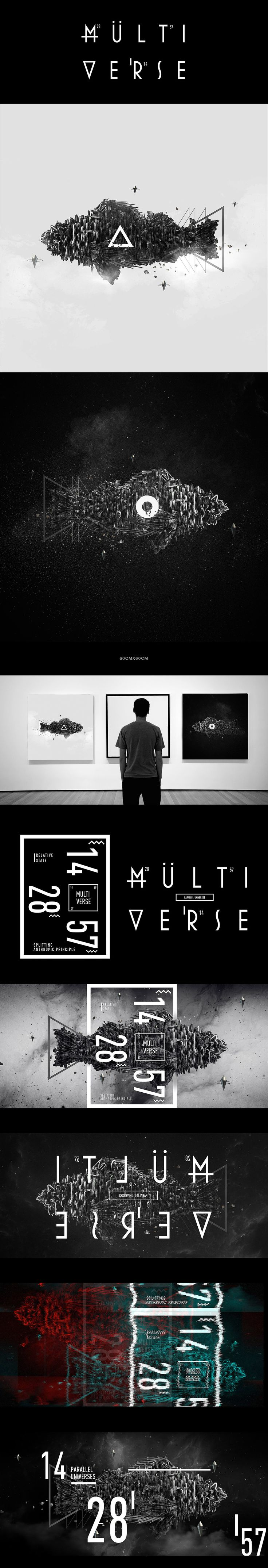 Floating in the multiverse on Behance