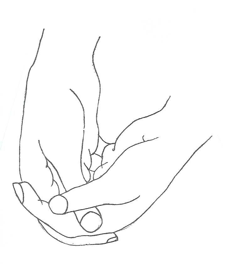 handen gevouwen