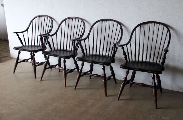 Second Charm Furniture Spindle Back Chairs Bar Stools