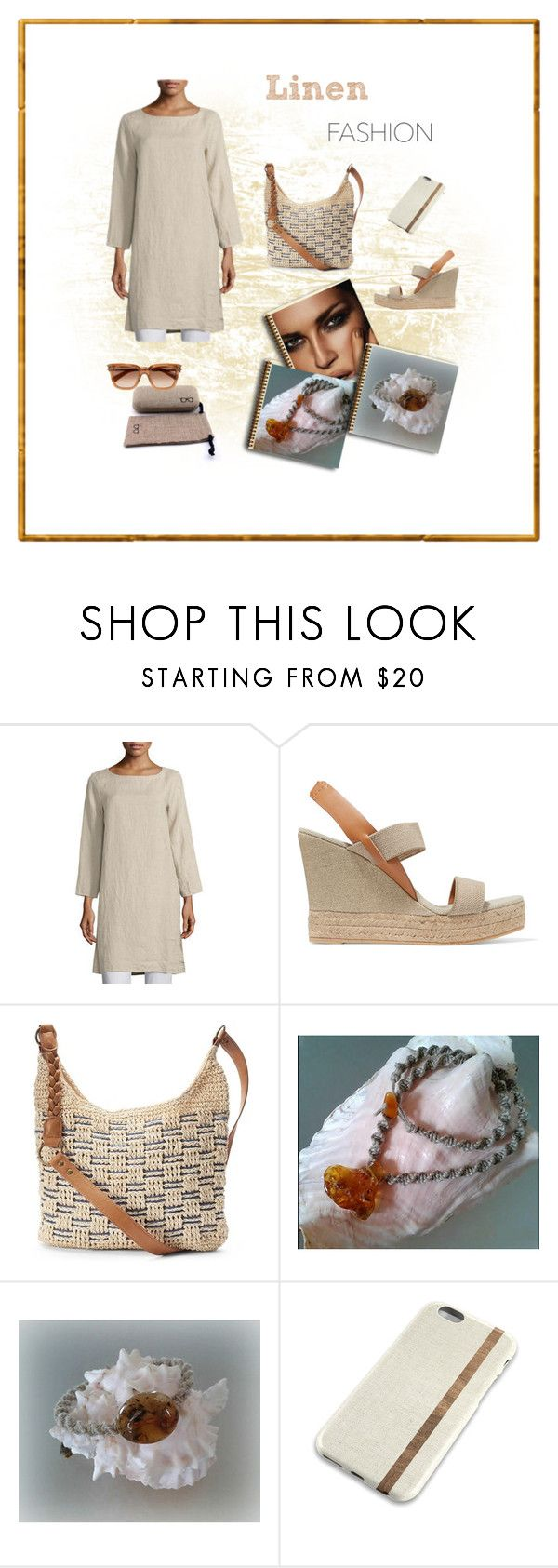 """""""Linen Fashion"""" by styledonna on Polyvore featuring moda, Eileen Fisher, Tory Burch, SONOMA Goods for Life i Chloé"""