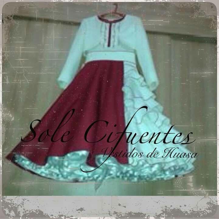 Vestido de china con influencia de huasa elegante