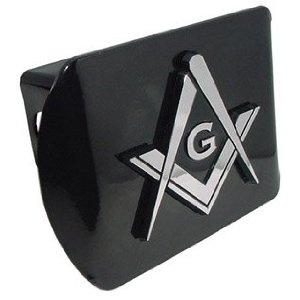 Mason Square Compass Masonic Lodge Freemason Fraternal Chrome Plated Metal Auto Car Truck Trailer Hitch Cover Fits 2 Inch Receiver