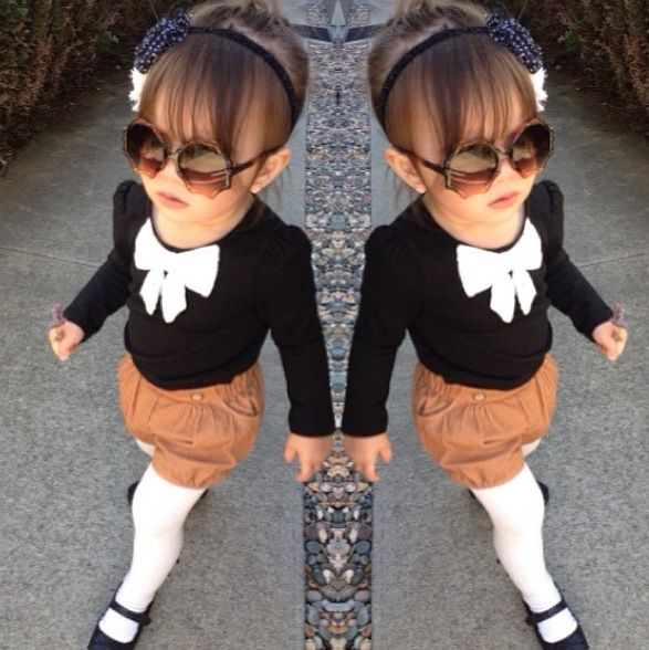 cute toddler outfit - I can just see my Emma wearing this with her prissy little attitude lol <3