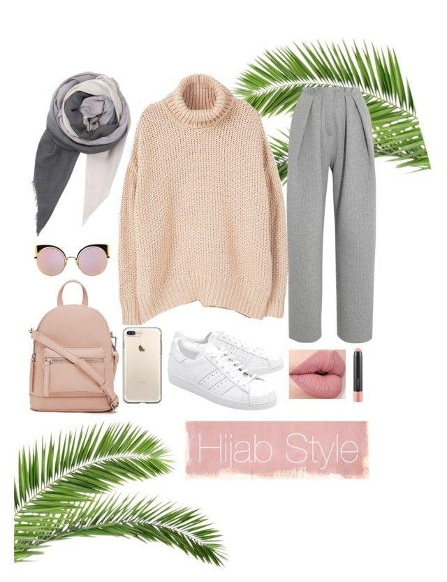 """hijab"" by rabiasemx on Polyvore featuring MANGO, adidas Originals, Forever 21, Fendi, BeckSöndergaard, Rothko, Vika Gazinskaya and MAC Cosmetics"