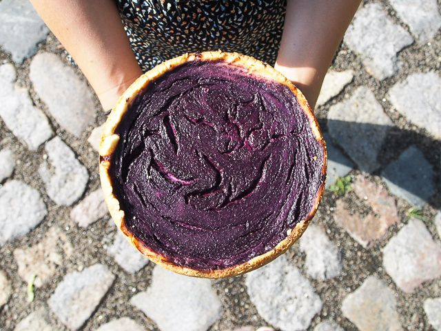 VEGAN BLUEBERRY CHEESECAKE!