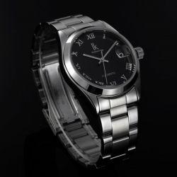 IK 98080 Calendar Mechanical Men Silver Stainless Steel Wrist Watch