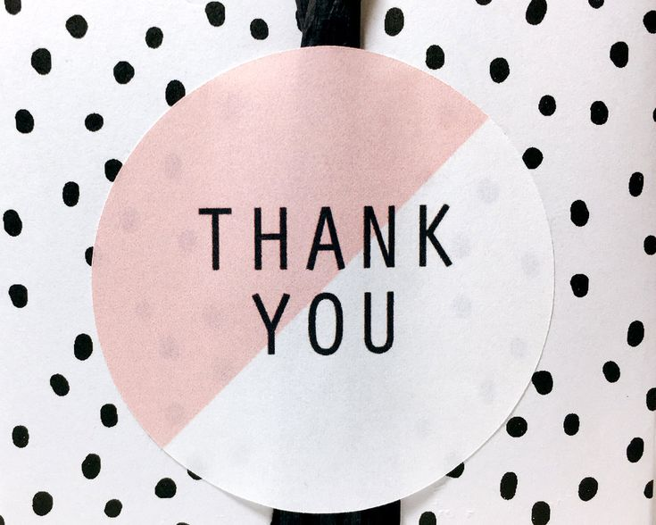 "12 Pink and white round ""Thank you"" stickers,thank you stickers,thank you labels,gift label,stickers,stationary,cute stickers,thank you,pink by CookieboxStore on Etsy"