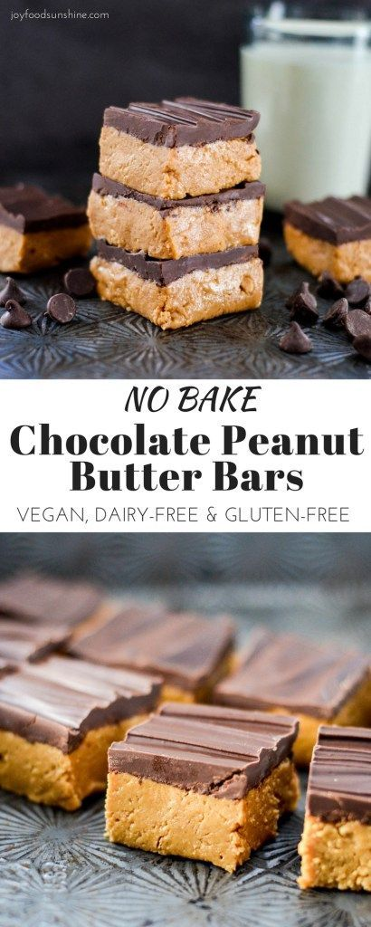 No-Bake Peanut Butter Cup Cookie Bars are a must-make family favorite! A delicious recipe ready in 15 minutes, plus they're vegan with a gluten-free option!