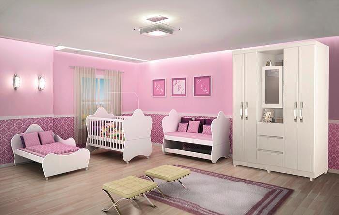 Dormitório Infantil Estrela Completa: R $ 1.899,00 Roupeiro Capelinha 4 portas …   – Baby Stage