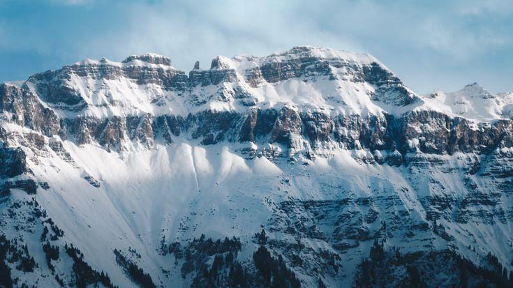 Glarus Alps from Flumserberg - Shot atop Flumserberg Switzerland during the wintertime