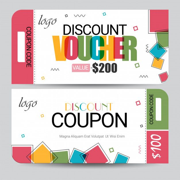 Creative Discount Voucher Gift Card Or Coupon Template Layout