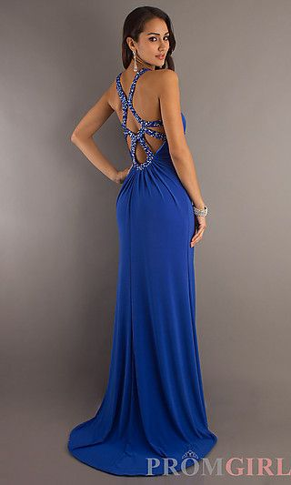 Floor Length Key-Hole Dress by Temptation at PromGirl.com http://www.promgirl.com/shop/dresses/viewitem-PD774028