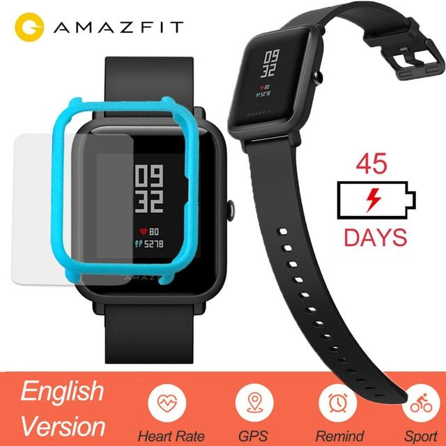 Xiaomi Mi Huami Amazfit Bip Smart Watch English Version Smartwatch Youth Edition Bip Lite Ip68 Gps Heart Rate 45 Days Stand Smart Watch Smart Watch Price Smart