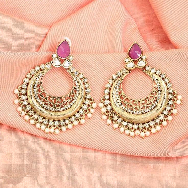 Costume Fashion Bollywood Jhumka/Jhumki Ethnic Indian Earrings #DesaiJewellers #DropDangle