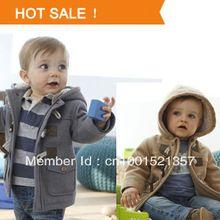2013 nuovi ragazzi giacca invernale vestiti 2 bambini di colore del cappotto della tuta sportiva 95% del bambino del cotone spessa abbigliamento bambini abbigliamento con cappuccio(China (Mainland))