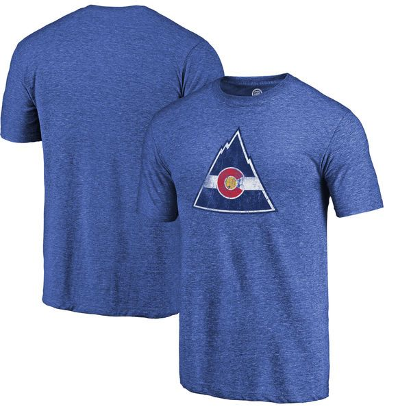 CO Rockies Throwback Logo 1976-1977 Tri-Blend T-Shirt - Royal - $29.99
