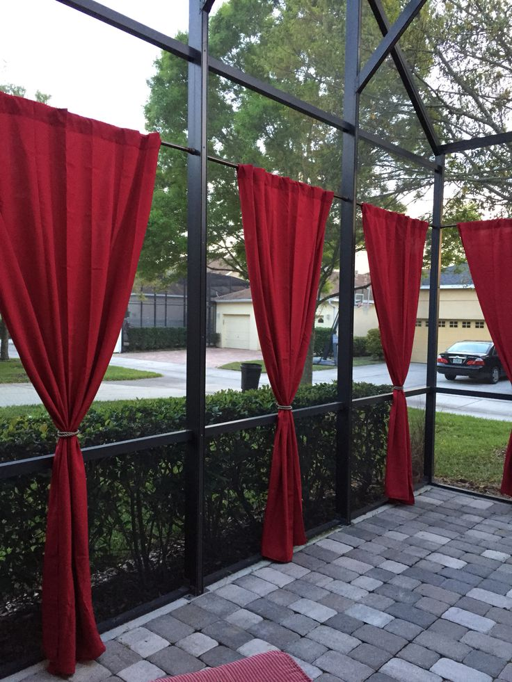 17 Best Images About Screened Patio Curtain Ideas On Pinterest Screened Patio Drop Cloth