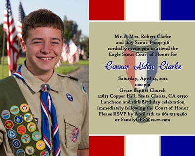 Eagle Scout Court Of Honor Invitations Prepared 2 Khaki Design