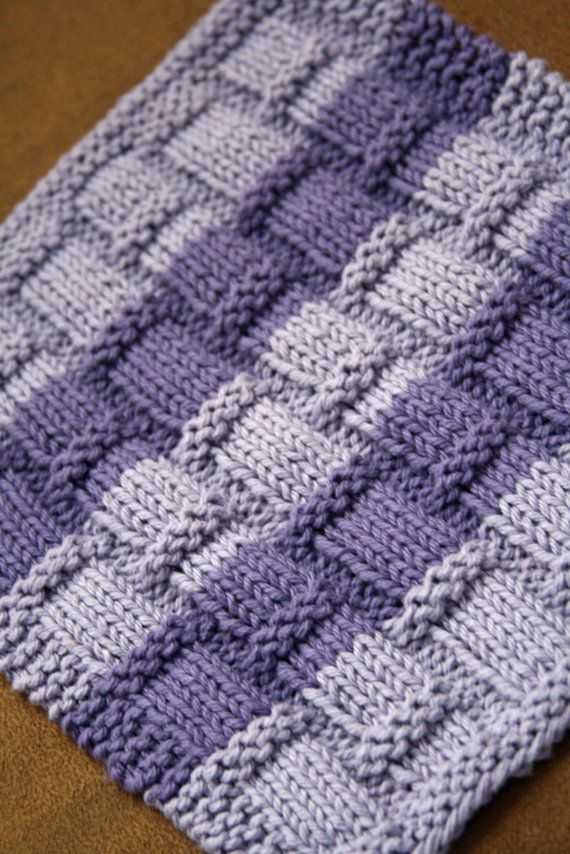 Knitting Pattern PDF Dishcloth Playing with Bamboo