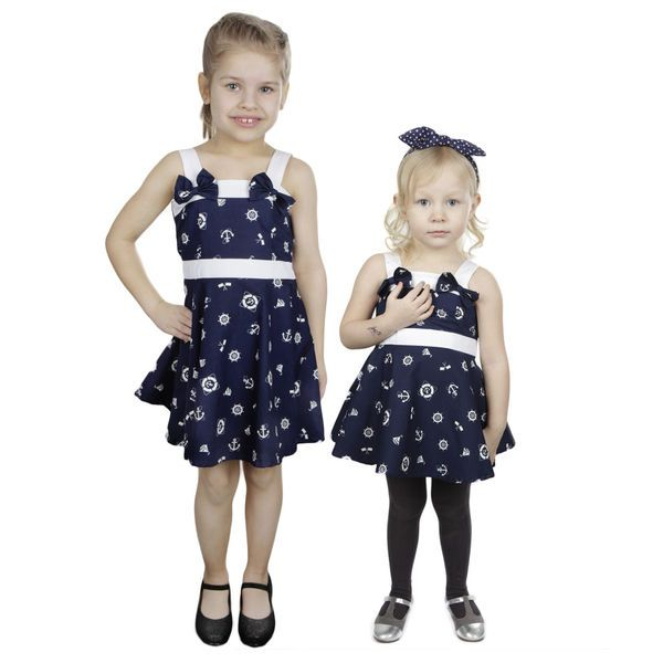 Little Miss Elinor -Navy Mekko