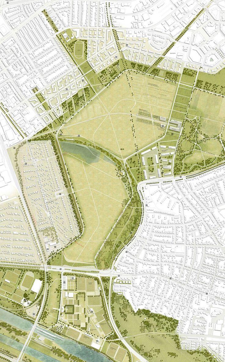 1. Rang freiraumplanerischer Teil: Lageplan Daueranlage, © RMP Stephan Lenzen Landschaftsarchitekten und Fischer Architekten