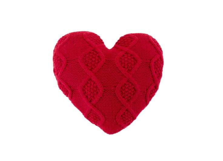 Red heart knitted cushion - £10 #ValentinesDay #Sainsburys