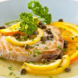 Fish with Citrus Caper Sauce Recipe