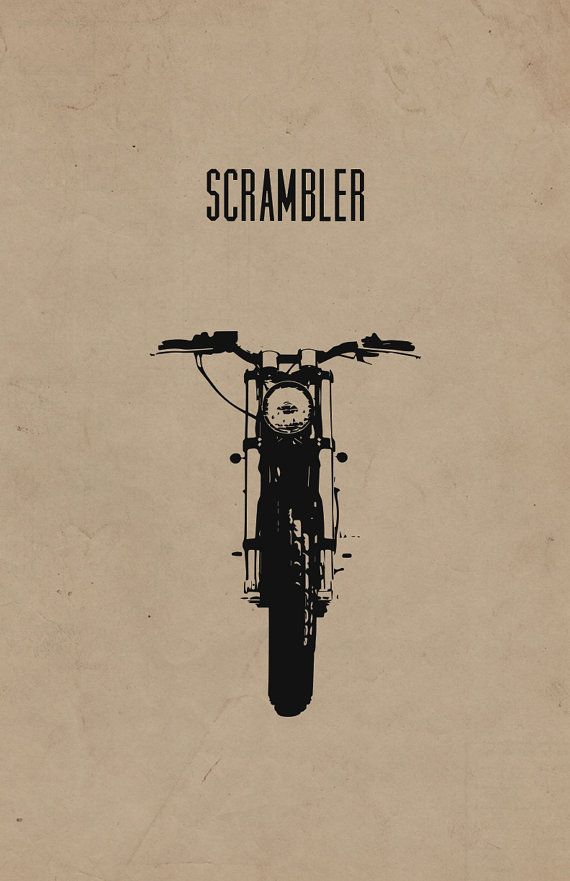 Scrambler Motorcycle Poster Limited Edition 11x17 in by InkedIron, $15.00