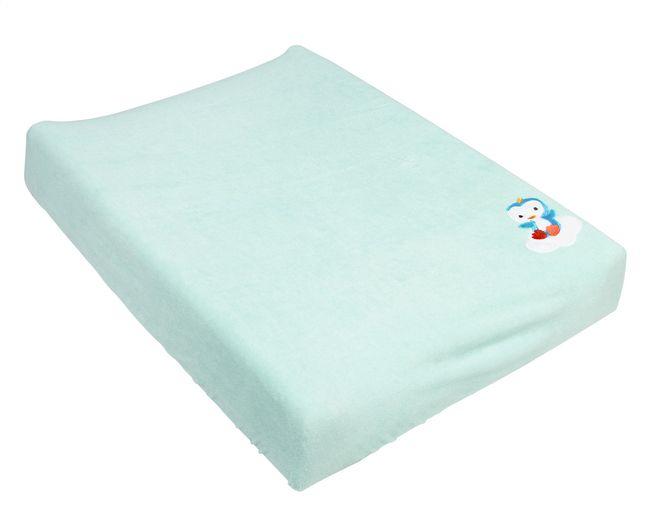 Niyu geeft je waskussen een nieuwe look en maakt het aangenaam warm voor je kindje dankzij deze muntgroene hoes van Dreambee.