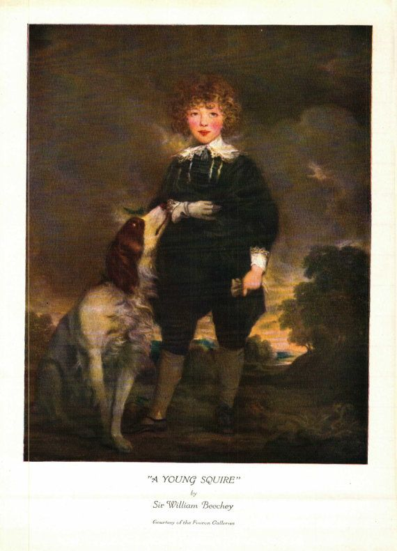 A Young Squire Sir William Beechey from the Oil painting Studio Magazine 7 x 10 inches- 0022