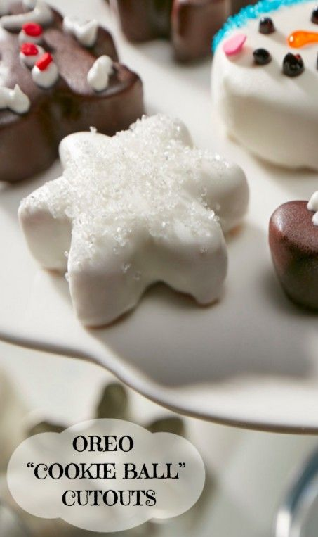 "Twinkling stars, snowman faces and gingerbread men. Get creative with OREO ""Cookie Ball"" Cutouts this holiday season!"