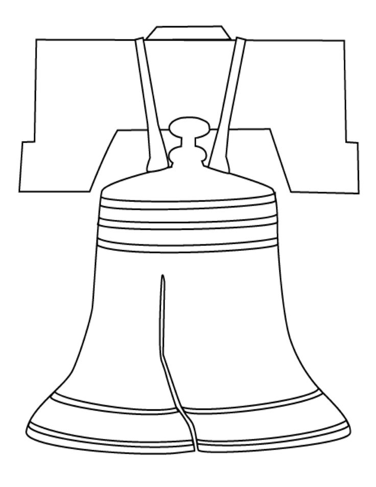 Fourth Of July Liberty Bell Craft Template For Kids
