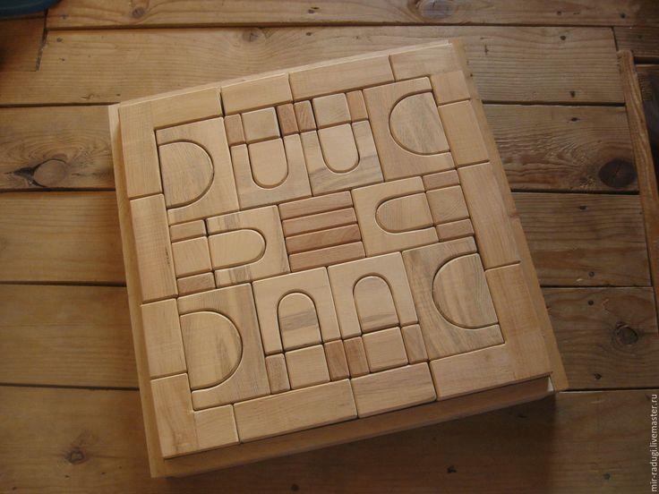 Купить детский деревянный конструктор неокрашенный - бежевый, интернет магазин игрушек, развивающие игрушки