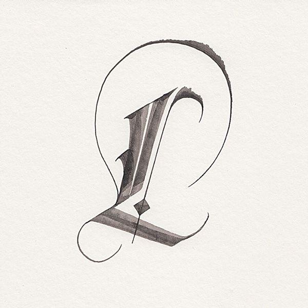 #L #calligraphy morsobymorso | TYPE & LETTERING | Pinterest