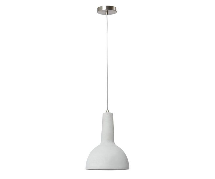 Harvey 1 Light Pendant in Concrete