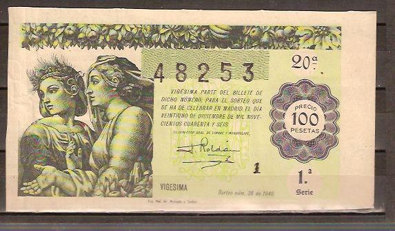 Lotería sorteo 36 de 1946 Navidad