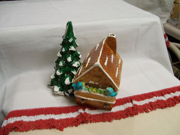 Early Snow Village Gingerbread Chalet Department 56 Bluebirds Vintage by FabVintageEstates on Etsy