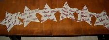 New Primitive Star Live Faith Laugh Family Friend Love Sentiments Table Runner
