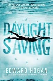 Daylight Saving, by Edward Hogan (Candlewick)  In this sort-of ghost story, Daniel is unenthusiastic about vacationing with his lovelorn father at tacky Leisure World. A mysterious girl named Lexi provides a distraction and also puzzles Daniel: Her watch ticks backwards and her skin shows wounds that worsen by the day.