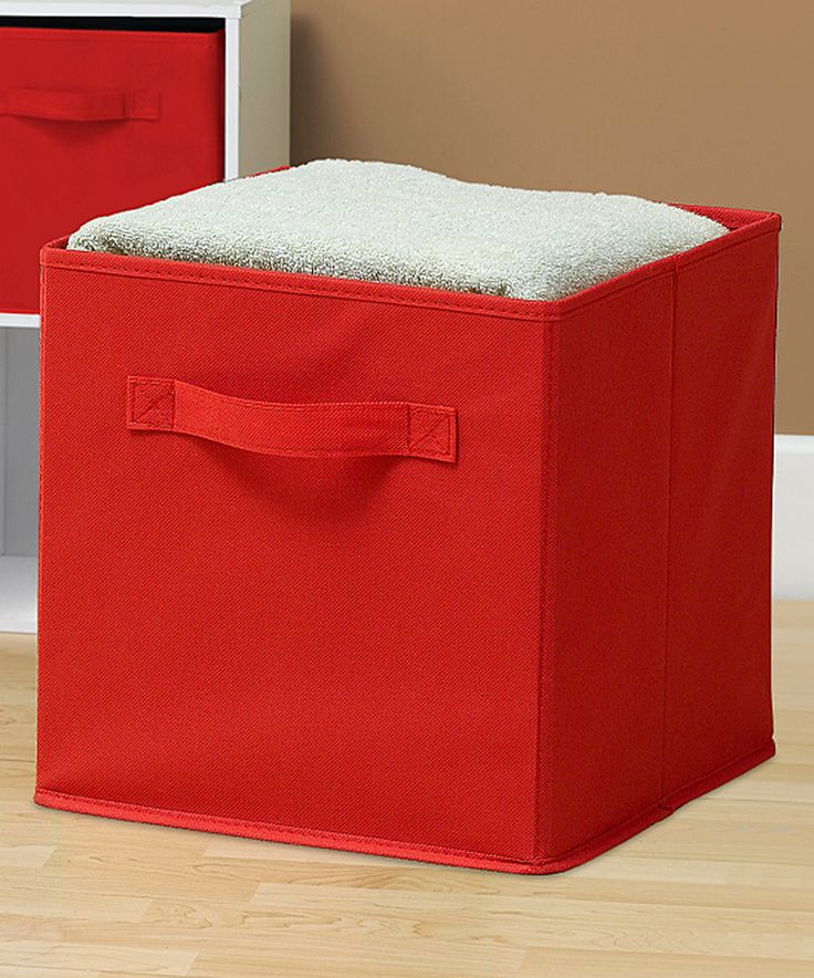 Elegant Sorbus® Red Collapsible Storage Cube   Set Of