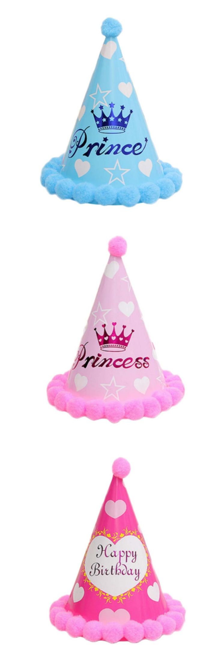 [Visit to Buy] Boys Girls Baby Kids Princess King LED Crown Happy Birthday Party Hats Fancy #Advertisement