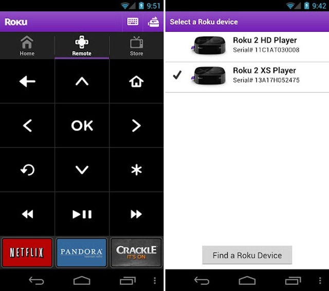 Roku's remote control app comes to Android devices
