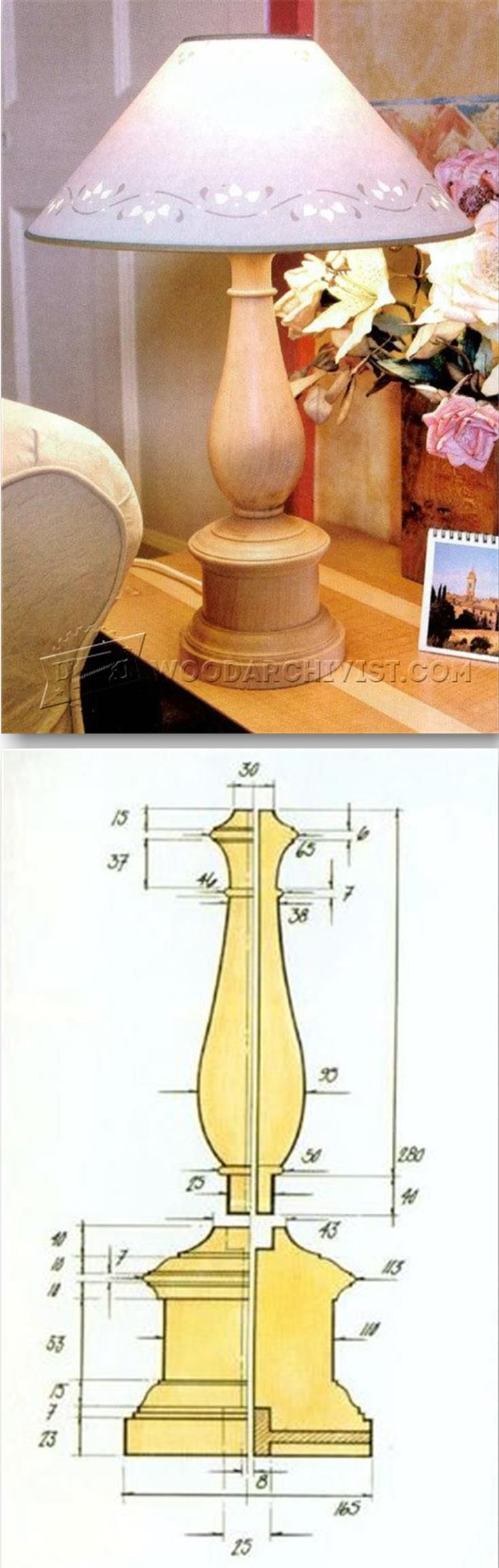 Woodturning Table Lamp - Woodturning Projects and Techniques | WoodArchivist.com