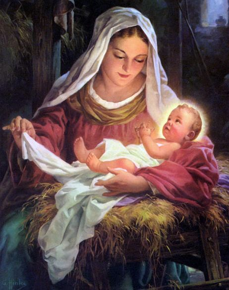 Madonna Nativity by George Hinke by Waiting For The Word, via Flickr