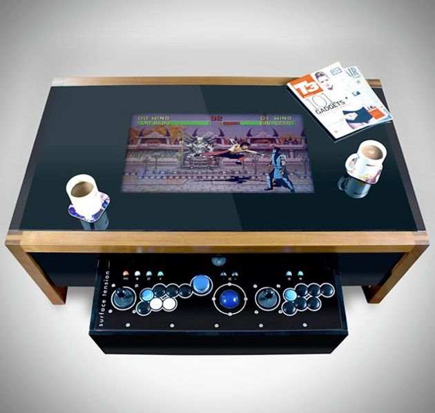One of these days I'm going to get around to turning my old pc into a mame cabinet. This Arcane Arcade Table is pretty good inspiration.