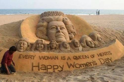 Odisha's Sandy Message on the occasion of International Women's Day-2014 #Odisha #WomensDay #Art | eOdisha.OrgeOdisha.Org