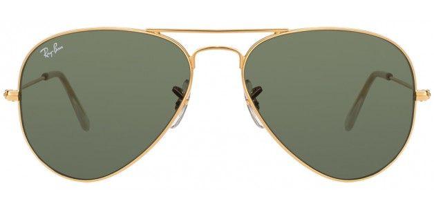 Ray-Ban RB3025 0015 SIZE:55 Golden Green Aviator Sunglasses