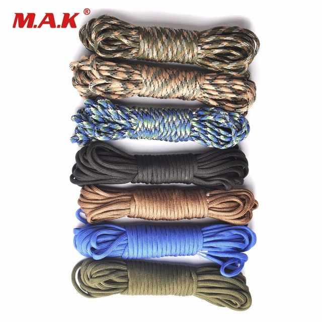 550 Paracord Parachute Cord Lanyard Rope Mil Spec Type Iii 7 Strand 100ft Climbing Camping Survival Equipment Review Parachute Cord Survival Equipment 550 Paracord