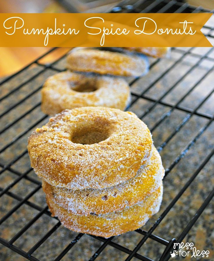 Pumpkin Donut Recipe - The perfect Fall treat! The baked donuts are healthier than fried and have a delicious pumpkin flavor!