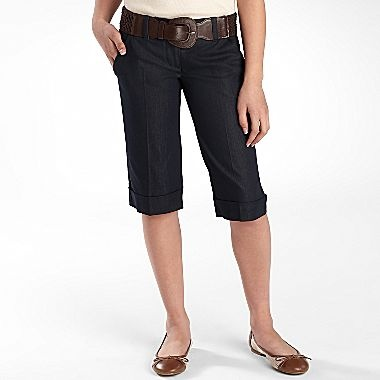 Tracey Evans Cuffed Bermuda Shorts - jcpenney